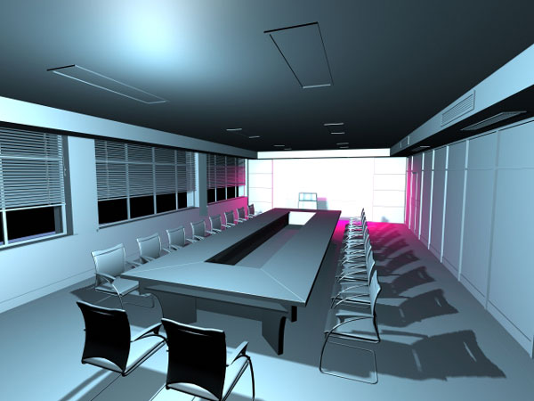 Meeting room office visualization max 3ds max software