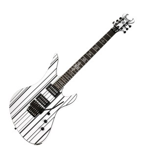 Synyster Standard Gloss White w/Black Pinstripes