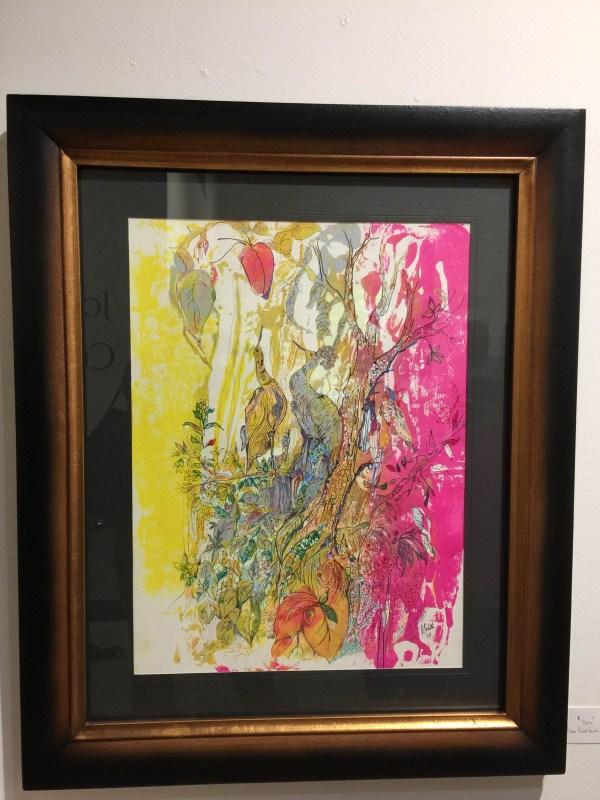 Abstract Art Gallery Interior