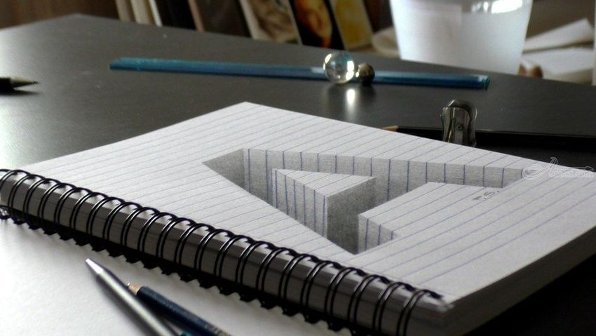 drawing of a hole