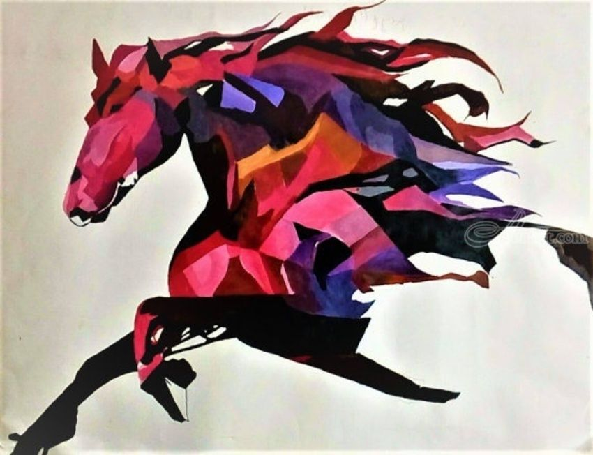 horse abstract painting paintings