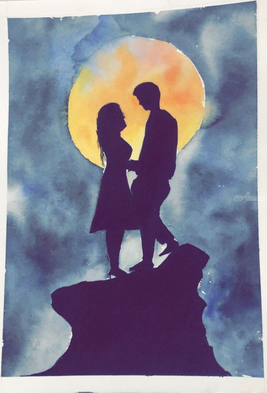 Love Couple Paintings By Kumar Praful Artist Com