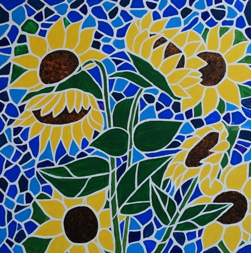 sunflower saturday paintings by