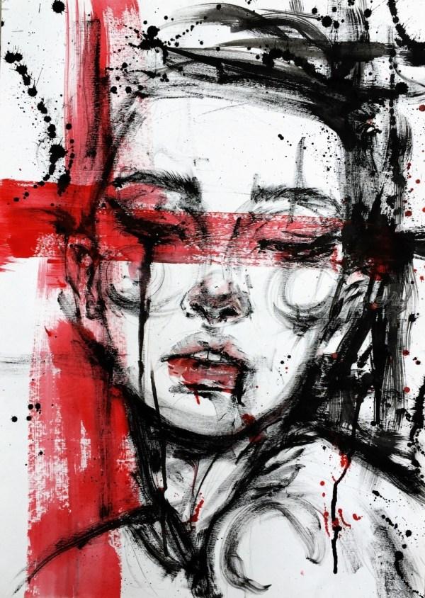 Silent Brushstroke 01 Drawings Sketch Illustration