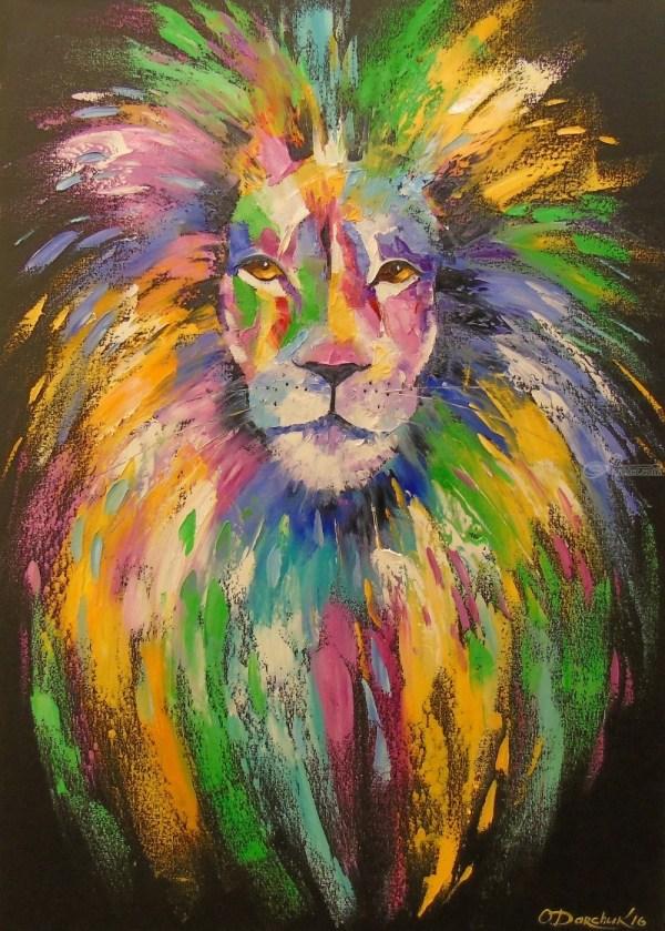 Lion Paintings Olha Darchuk
