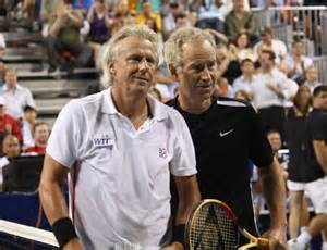 Borg & McEnroe, friendly foes today!