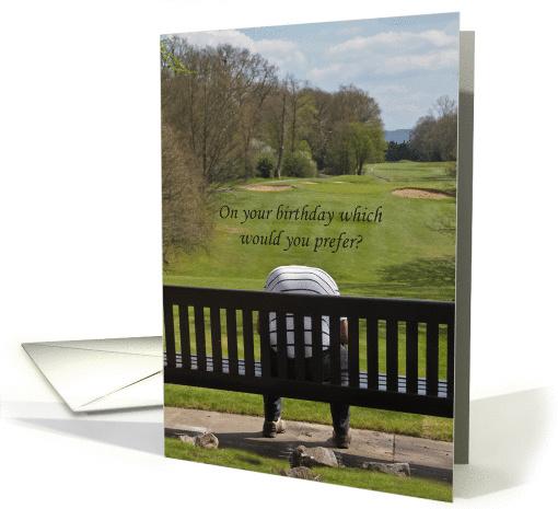 Golfer Birthday card (1081936)