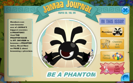 the newspaper annoucing you can be a phantom