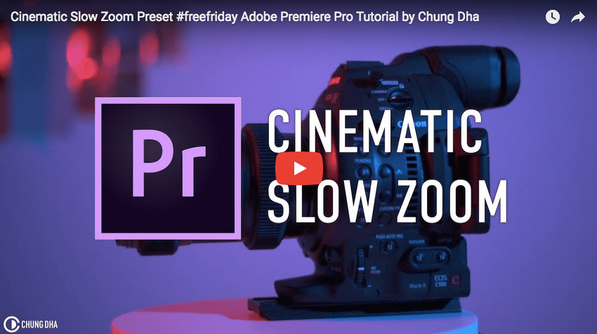 PR TUTORIAL: Cinematic Slow Zoom Preset – Artist Connect
