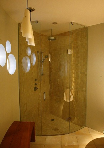 Frameless Curved and Shaped Showers  ArtistCraftcom