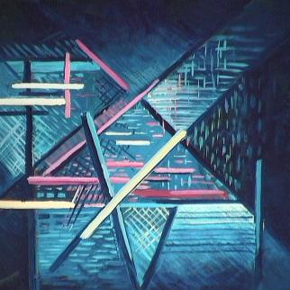 Vitrine de lin - 1981 Acrylique sur masonite 41cm X 51cm Louis Fortier PRIX : 475$