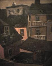 Galerie maison brune - 1977-1979 Acrylique sur toile 61cm X 77cm Louis Fortier