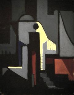 Éléphant - 1980 Acrylique sur toile 41cm X 51cm Louis Fortier