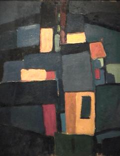 Cubes - 1980 Acrylique sur masonite 41cm X 51cm Louis Fortier