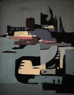 Usine Daishawa - 1980 Acrylique sur toile 45cm X 61cm Louis Fortier