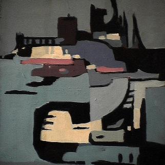 Usine Daishawa - 1980 Acrylique sur toile 45cm X 61cm Louis Fortier PRIX : 625$