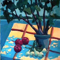L'arbre à pick-nick - 1984 Acrylique sur toile 61cm X 76cm Louis Fortier PRIX : 325$