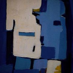 Têtes carrées - 1984 Acrylique sur masonite 21cm X 26cm Louis Fortier PRIX : 125$