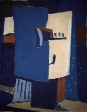 Prisme - 1984 Acrylique sur masonite 21cm X 26cm Louis Fortier