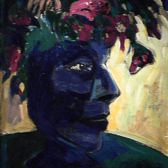 Printemps - 1984 Acrylique sur masonite 21cm X 26cm Louis Fortier