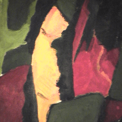 Nature - 1984 Acrylique sur masonite 21cm X 26cm Louis Fortier