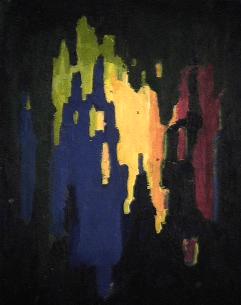 Découverte - 1984 Acrylique sur masonite 21cm X 26cm Louis Fortier