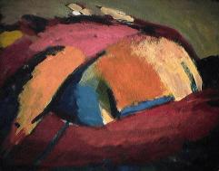 Repos - 1984 Acrylique sur masonite 21cm X 26cm Louis Fortier