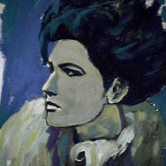 La bohème - 1984 Acrylique sur carton 21cm X 26cm Louis Fortier PRIX : 125$