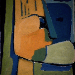 Seconde chance - 1984 Acrylique sur carton 21cm X 26cm Louis Fortier