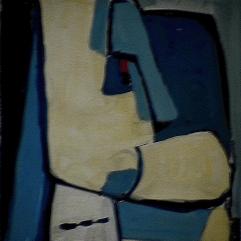 Menton crochu - 1984 Acrylique sur carton 21cm X 26cm Louis Fortier PRIX : 125$