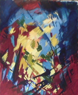 Colombes - 1984 Acrylique sur masonite 92cm X 122cm Louis Fortier