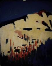 Impénétrable - 1984 Acrylique sur carton 21cm X 26cm Louis Fortier