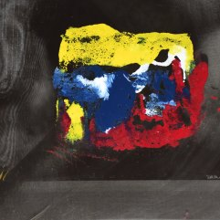 Présage- 1994-1997 Acrylique sur acétate 30cm X 30cm Louis Fortier PRIX : 125$