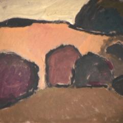 Désert forestier - 1982 Acrylique sur masonite 51cm X 41cm Louis Fortier PRIX : 300$