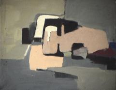 Village - 1979 Acrylique sur toile 52cm X 41cm Louis Fortier