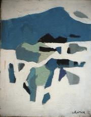 Montagne enneigée - 1979 Acrylique sur toile 41cm X 52cm Louis Fortier