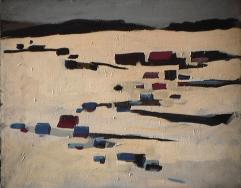 Saint-Adolphe - 1979 Acrylique sur toile 51cm X 41cm Louis Fortier
