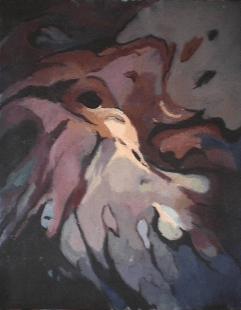Oiseau - 1984 Acrylique sur toile 61cm X 77cm Louis Fortier