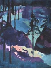 Forêt - 1984 Acrylique sur toile 104cm X 132cm Louis Fortier