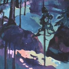 Forêt - 1984 Acrylique sur toile 104cm X 132cm Louis Fortier PRIX : Oeuvre non disponible (vendue)