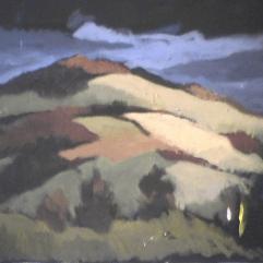 Montagnes - 1979 Acrylique sur toile 51cm X 41cm Louis Fortier PRIX : 300$