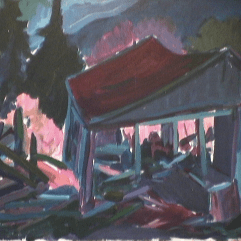 Moulin Saint-Adolphe - 1979 Acrylique sur masonite 62cm X 46cm Louis Fortier PRIX : 375$