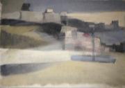 Tempête - 1979 Acrylique sur carton 31cm X 23cm Louis Fortier