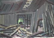 Vieux moulin - 1979 Gouache sur carton 23cm X 34cm Louis Fortier