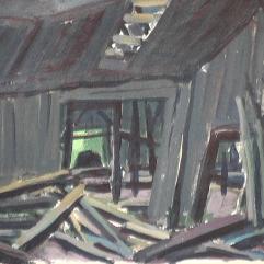 Vieux moulin - 1979 Gouache sur carton 23cm X 34cm Louis Fortier PRIX : 100$