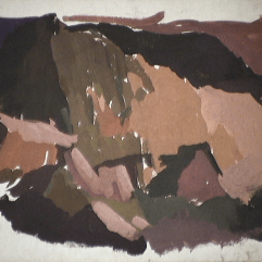 Montagnes - 1979 Gouache sur carton 38cm X 26cm Louis Fortier PRIX : 125$