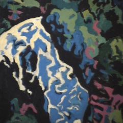 Chute Jean-Larose - 1985 Acrylique sur masonite 51cm X 41cm Louis Fortier PRIX : 300$