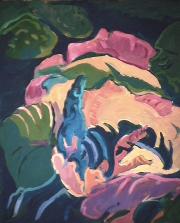 Fleurs - 1982 Acrylique sur masonite 51cm X 41cm Louis Fortier