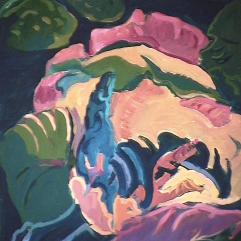 Fleurs - 1982 Acrylique sur masonite 51cm X 41cm Louis Fortier PRIX : 300$