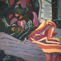Sans titre - 1982 Acrylique sur masonite 51cm X 41cm Louis Fortier PRIX : 300$